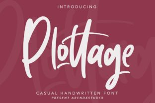 Print on Demand: Plottage Script & Handwritten Font By Arendxstudio
