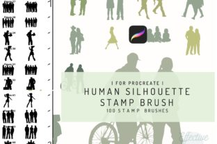 Procreate Human Silhouette Stamp Brush Graphic Brushes By EfficientTools