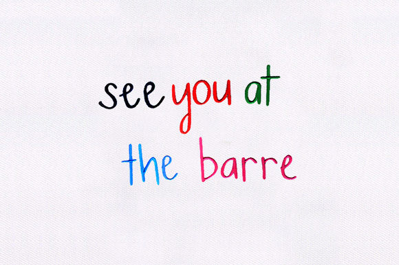 See You at the Barre Wine & Drinks Embroidery Design By DigitEMB