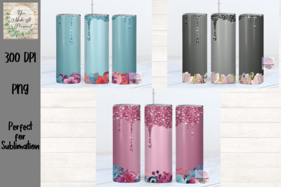 Print on Demand: Skinny Tumbler Bundle, Glitter Drip Graphic Crafts By You Make It Personal