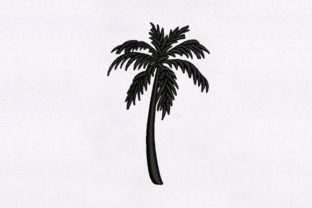 Stunning Palm Tree Beach & Nautical Embroidery Design By DigitEMB
