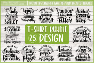 Print on Demand: Tshirt Design Quotes Bundle Graphic Crafts By PrintableSvg