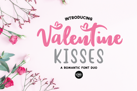 Print on Demand: Valentine Kisses Script & Handwritten Font By dixietypeco