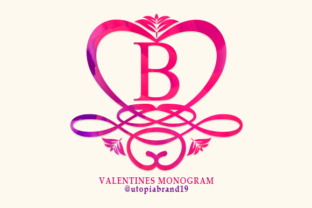 Print on Demand: Valentines Monogram Decorative Font By utopiabrand19