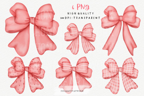 Watercolor Pink Ribbon Bow Clipart Graphic Crafts By Chonnieartwork
