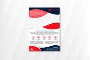 Print on Demand: Flooring Product Red Blue Vertical Flyer Graphic Print Templates By noory.shopper