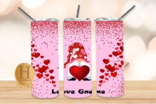Print on Demand: Love Gnome Valentine Design Graphic Crafts By Heba Morsy