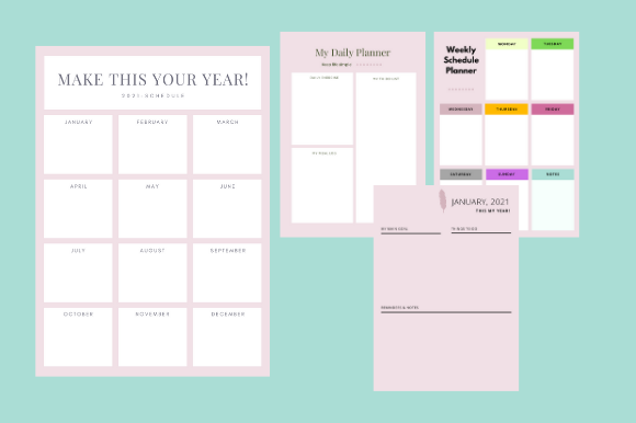 Print on Demand: Monthly Planner 2021 Undated New Design Graphic KDP Interiors By GdiDesign