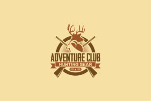 Print on Demand: Adventure Club Logo  Graphic Logos By shazdesigner