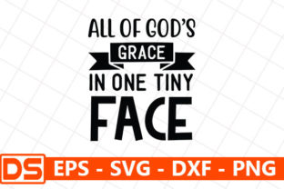 Print on Demand: All of God's Grace in One Tiny Face Graphic Print Templates By Design Store