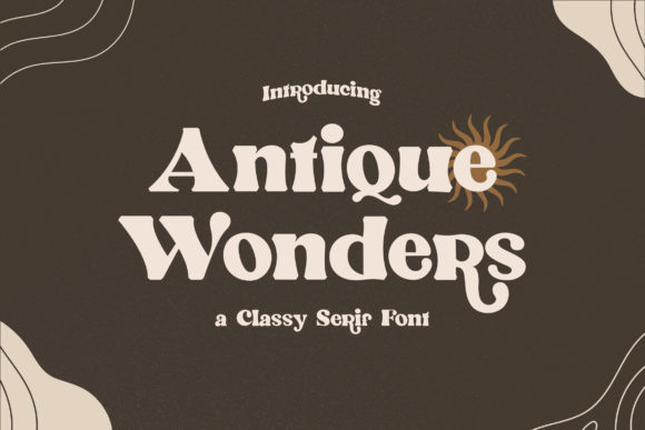 Print on Demand: Antique Wonders Serif Font By TypeFactory