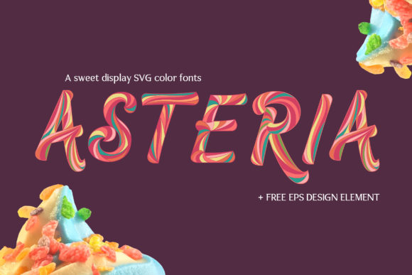 Print on Demand: Asteria Color Fonts Font By heypentype