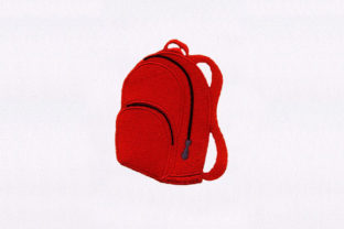 Backpack Back to School Embroidery Design By DigitEMB