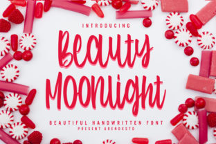 Print on Demand: Beauty Moonlight Script & Handwritten Font By Arendxstudio