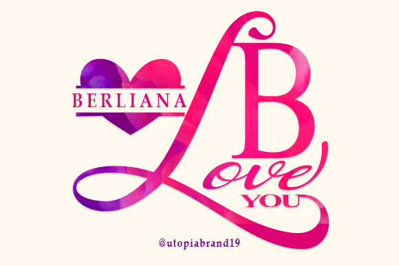 Print on Demand: Berliana Monogram Decorative Font By utopiabrand19