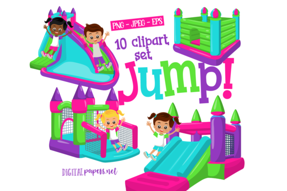 Print on Demand: Bounce House - Vol 1 Graphic Illustrations By DigitalPapers
