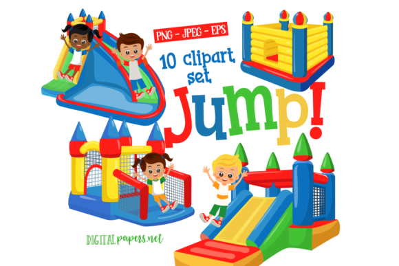 Print on Demand: Bounce House - Vol 2 Graphic Illustrations By DigitalPapers