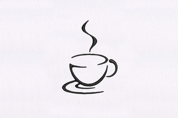Coffee Cup Tea & Coffee Embroidery Design By DigitEMB
