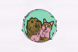 Cute Animal Animals Embroidery Design By DigitEMB