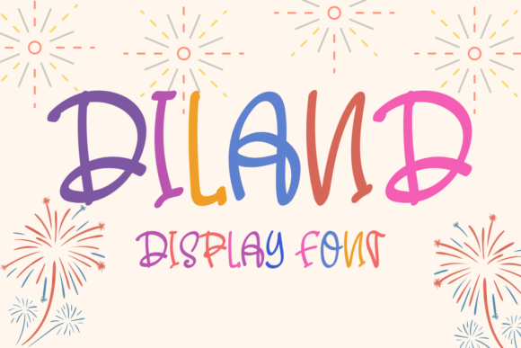 Print on Demand: Diland Display Font By Al Ghul