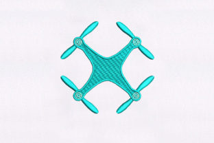 Drone Camera Vacation Embroidery Design By DigitEMB