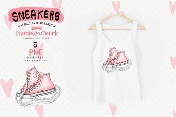 Sneakers and Pearls Sublimation Bundle Graphic Download