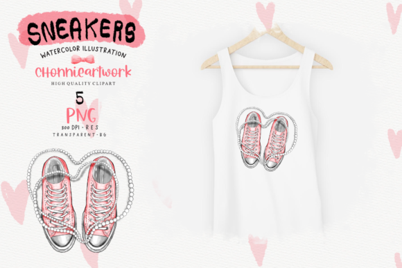 Sneakers and Pearls Sublimation Bundle Graphic Item