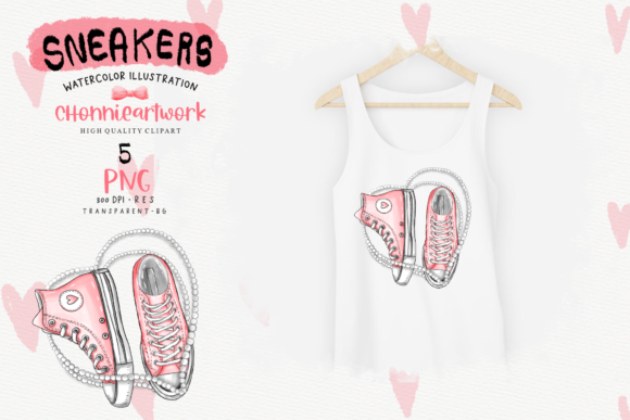 Sneakers and Pearls Sublimation Bundle Graphic Design