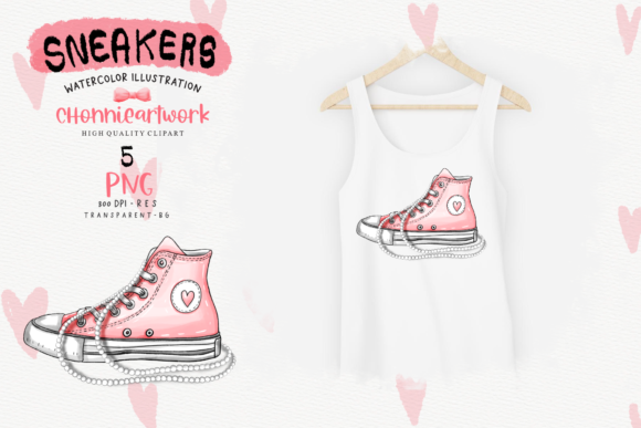 Sneakers and Pearls Sublimation Bundle Graphic Preview