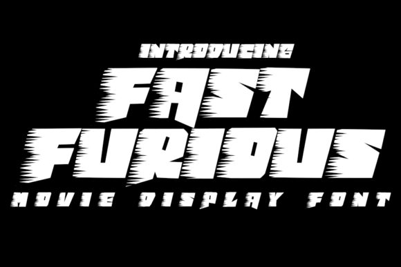 Print on Demand: Fast Furious Display Font By Eddygoodboy