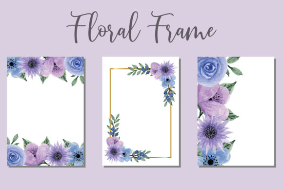 Print on Demand: Floral Wedding Watercolor Invitation New Graphic Print Templates By Dender Studio