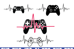 Print on Demand: Gamer Heartbeat Graphic Illustrations By Sofiamastery