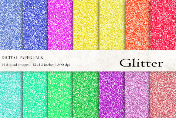 Glitter Digital Papers Graphic Backgrounds By BonaDesigns