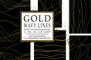 Print on Demand: Gold Wavy Lines Graphic Textures By JulieCampbellDesigns
