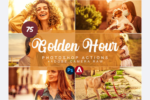 Golden Hour Effect Photoshop Actions Graphic Actions & Presets By Snipersden