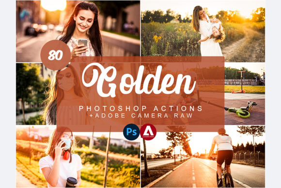 Golden Photoshop Actions Graphic Actions & Presets By Snipersden