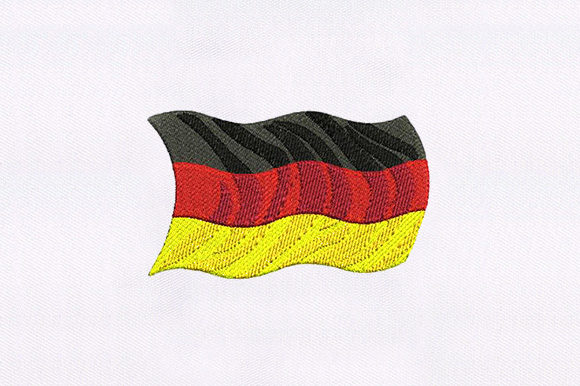 Great Germany Flag Independence Day Embroidery Design By DigitEMB