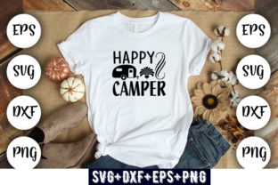 Print on Demand: Happy Camper Graphic Print Templates By Design_store