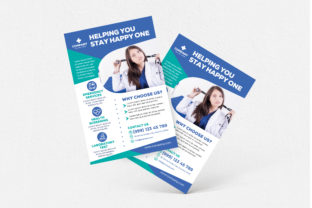 Helping You Stay Happy One Flyer Graphic Print Templates By medzcreative