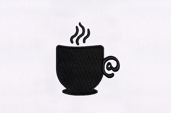 Hot Coffee Cup Tea & Coffee Embroidery Design By DigitEMB