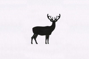 Lonely Deer Woodland Animals Embroidery Design By DigitEMB