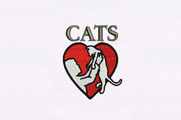 Love Cat Symbol Animal Quotes Embroidery Design By DigitEMB