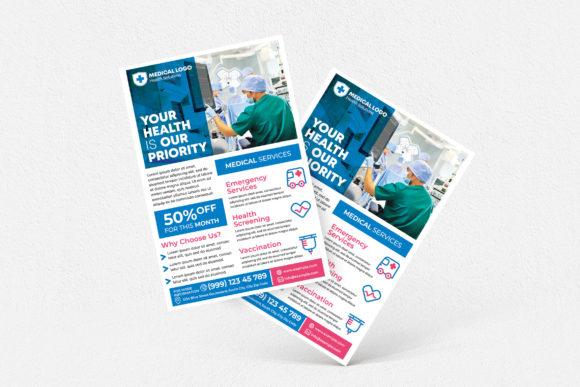 Medical Services Flyer Graphic Print Templates By medzcreative