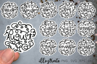 Print on Demand: Months of the Year SVG Cut File Graphic Crafts By illuztrate