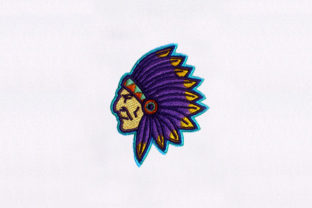 Native War Bonnet North America Embroidery Design By DigitEMB