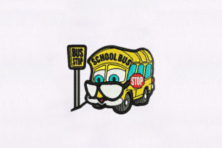 Old School Bus Transportation Embroidery Design By DigitEMB