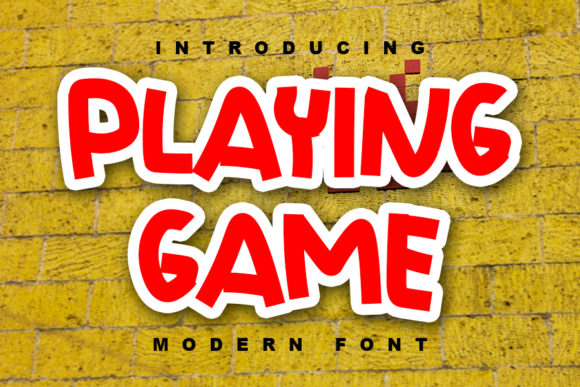Print on Demand: Playing Game Display Font By ABBAsalam
