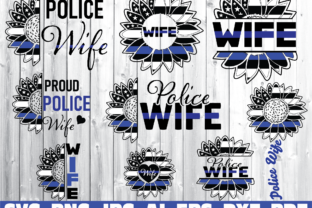 Print on Demand: Police Wife, Thin Blue Line Graphic Illustrations By Sofiamastery