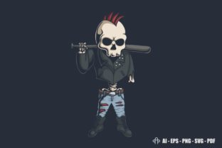 Print on Demand: Punk Skull Illustration Graphic Illustrations By Andypp