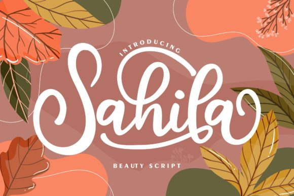 Print on Demand: Sahila Script & Handwritten Font By Vunira